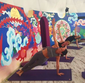 Tricia of Doolin Yoga county Clare in training