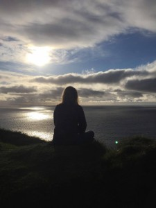 yoga postures looking over the atlantic - doolin yoga centre