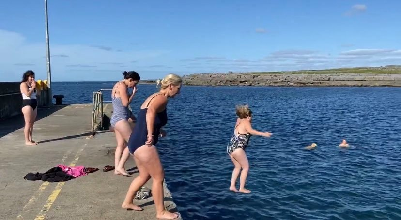 Pier jumps as part of One Day Retreats