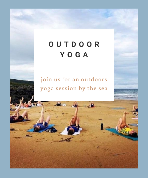 outdoor yoga in doolin